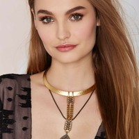 Biko Odyssey 18K Gold Collar Necklace