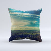 The Country Skyline ink-Fuzed Decorative Throw Pillow