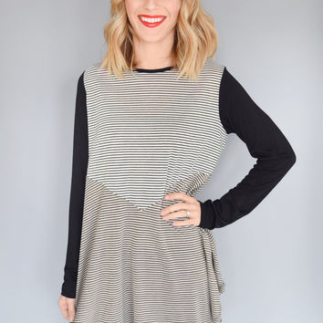 Contrast Striped Top