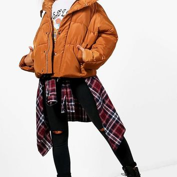 Sarah Boutique Oversized Padded Jacket | Boohoo
