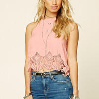 Floral Crochet Halter Top