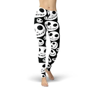 Skeleton Jacks Print Leggings