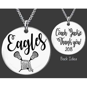 Lacrosse Coach Necklace