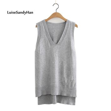 2017 Spring Summer O Neck Women Sweater Vest Sleeveless Knit Female Cotton Soft Elastic Solid Colore Pullovers