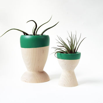 Wooden Planters set of 2, Mother's Day Collection