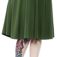 SOURPUSS CIRCLE SKIRT GREEN