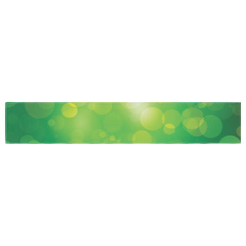 "KESS Original ""Radioactive"" Green Bokeh Table Runner"