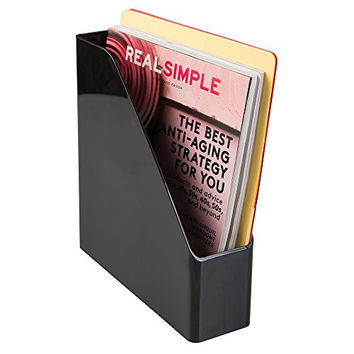 mDesign Office Magazine & File Folder Organizer - Black