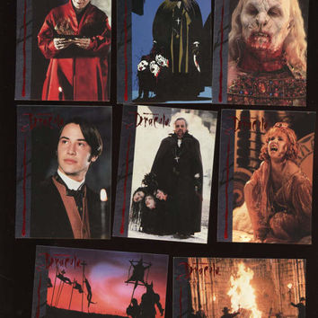 DRACULA Bram Strokes VINTAGE Topps 1992 lot of 8 Collector cards features Keanu Reeves,Great Condition