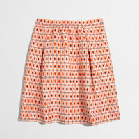 Factory geometric jacquard skirt : Mini & A-Line | J.Crew Factory