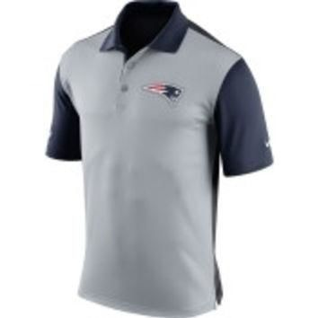 NFL New England Patriots Nike Mens 2015 Preseason Grey Polo Shirt