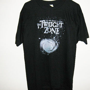 Vintage Twilight Zone screen stars tshirt!!! 80s Deadstock!!