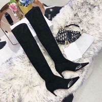Dior Women Black Heels Shoes Boots 2019 Fashion TOP knight boot Winter Best Quality
