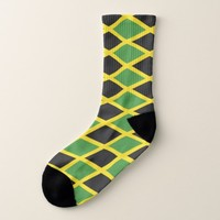 All Over Print Socks with Flag of Jamaica