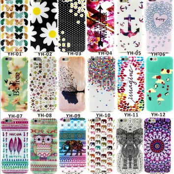 Hot for iPhone 6 Soft Rubber Back Case Cover Accessory For iPhone 6 4.7 TPU Material Colourful painted for women girls gifts OWI