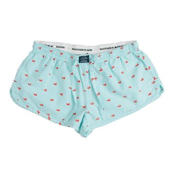 Chandler Oxford Lounge Short in Antigua Blue by Southern Marsh
