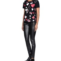 KARL LAGERFELD CHOUPETTE IN LOVE CATS S/S TEE for Women | KARL.COM