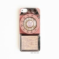 iPhone 5/5S Case Pink Vintage Payphone
