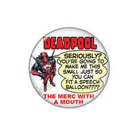 Deadpool Speech Balloon Button