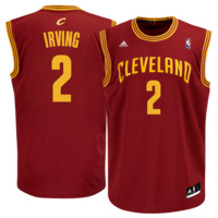 Kyrie Irving Cleveland Cavaliers adidas Replica Road Jersey - Wine