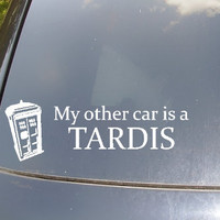 My Other Car is a Tardis Car Sticker by KellyCreationDecals