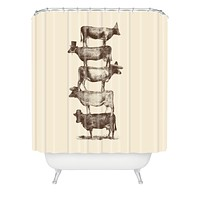 Florent Bodart Cow Cow Nuts Shower Curtain