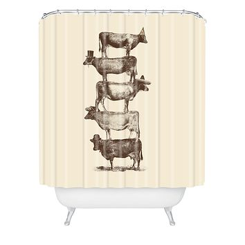 Florent Bodart Cow Nuts Shower Curtain