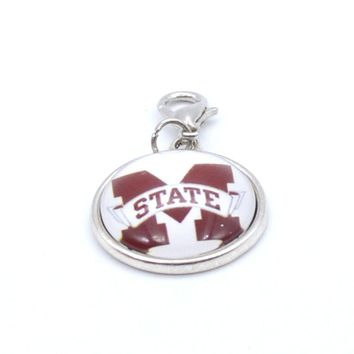 Pendant Accessories NCAA Mississippi State Bulldogs Charms Accessories for Bracelet Necklace for Women Men Basketball Fans Paty