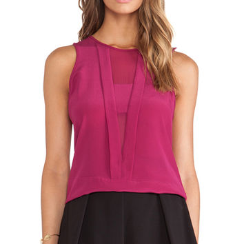 Trina Turk Devera Tank in Wine