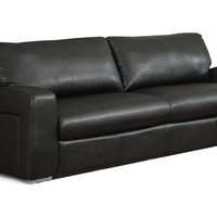 Sofa - Black Bonded Leather