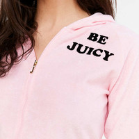 Juicy Couture For UO Be Juicy Zip-Up Hoodie Sweatshirt - Urban Outfitters
