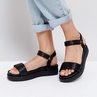 New Look Sports Strap Flatform Sandals at asos.com