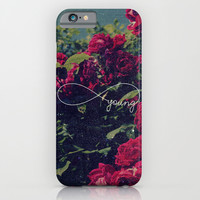 Red Roses Forever Young iPhone & iPod Case by Hyakume