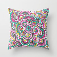 Colorful Sunrise Throw Pillow by Sarah Oelerich