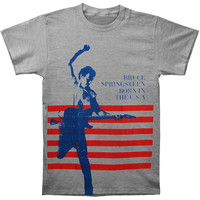 Bruce Springsteen Men's  Born In The USA T-shirt Grey