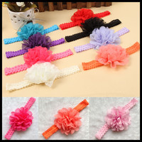 Fashion Baby Girl Lace Flower Hair Band Headband Hairband Hair Accessories 12 Colors Drop Shipping BB-101