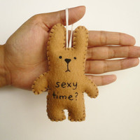 Christmas ornament funny bunny - Sexy time - tree decoration