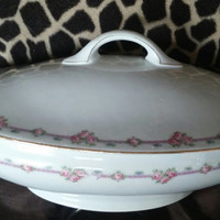 Vintage J & C Trianon Bavaria Casserole / Covered Vegetable  Dish