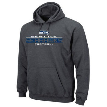 Seattle Seahawks Majestic Squib Pullover Hooded Sweatshirt Size 3XL