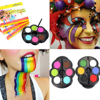 Rainbow Schmink Body Paint Colors Neon UV Glowing Face Painting Palette Popfeel Brand Make Up Temporary Tattoo
