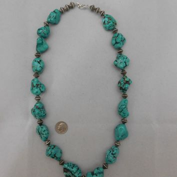 Necklace Turquoise Nuggets Made By Sandra Francisco