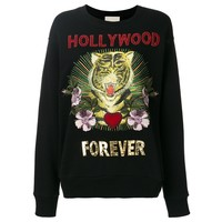 Indie Designs Hollywood Forever Embroidered Sweatshirt