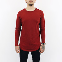 Lamar Longsleeve Zipper Shirt (Burgundy)