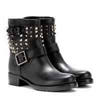 valentino - rockstud noir leather boots