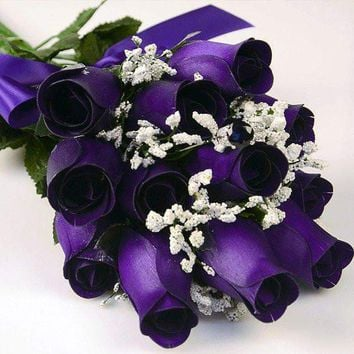 Deep Purple Bouquet | Jewelry Roses®