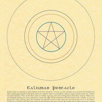 "Talisman Pentacle Quote 8.5"" x 11"