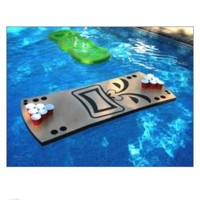 Tiki Floating Beer Pong Table