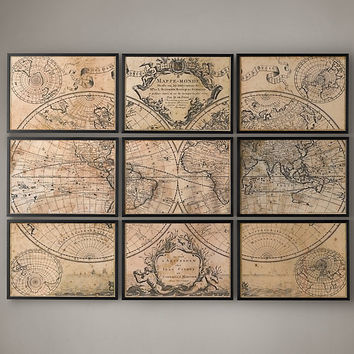 L'Isle's 1720 World Map