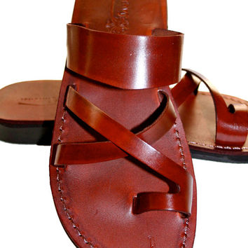 Brown Bath Leather Sandals for Men & Women