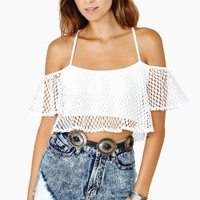 Float On Crop Top